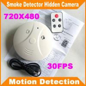 Quality Remote Control Smoke Detector Covert Spy Camera Pinhole Ceiling DVR W/ Motion Detection wholesale