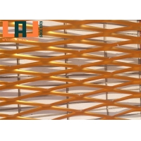 China Aluminum 3mm Thick Big Hole Facade Expanded Metal Wire Mesh For Decoration for sale
