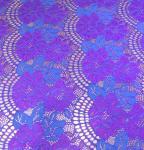 Quality 150CM Width Floral Cotton Nylon Lace Fabric Purple / White / Black For Ladies Dressing wholesale