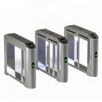 Quality Security Flap Entrance Automatic Turnstiles Electronic Fingerprint High Sensitivity wholesale