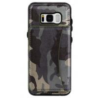 Quality Galaxy S8 Samsung Leather Wallet Case Crazy Horse Original Camouflage Color wholesale