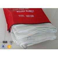 Cheap White Fiberglass Kitchen Fiber Glass Fabric Industrial Emergency Fire Blanket for sale