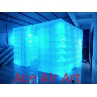 Quality 3.6mL x3.6mW*2.4mH Wonderful Cube led inflatable Tent/Inflatable Lighting Studio /Big Inflatable Photo Booth wholesale