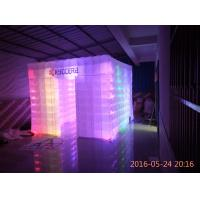 Quality high quality lighting inflatable cabin photo booth props with logo for wedding event decoration wholesale