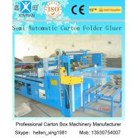 Quality 4kw Paper Carton Making Machine For Folding And Gluing of Paperboard wholesale