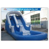 Quality Amusement Park Bounce Round Water Slide Inflatable Slide With Pool wholesale