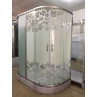 Quality Simple Maple Leaf Shower Cabin With Tray , Bathroom Shower Cubicles wholesale