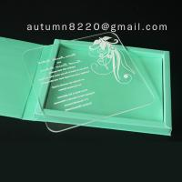 Quality clear acrylic invitation wholesale