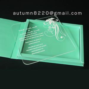 Quality clear acrylic invitation wholesale