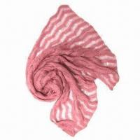 Quality Knitted Winter Scarf, Fashionable Knitting Pattern Style, Made of Acrylic Mohair, Suitable for Women wholesale