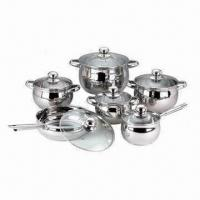 China 12-piece Stainless Steel Cookware with Mirror Polish, Non-stick Coating, Frying Pan, Saucepan, Pots on sale