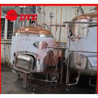 Quality Red Copper Commercial Beer Brewing Systems With Mash Kettle Tun wholesale