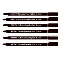 Quality Black Pigment Ink PP Technical Drawing Pens for Sketching or Writing Waterproof wholesale