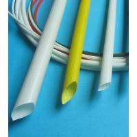 China SGS Silicone Rubber Fiberglass Sleeving , Braided Fiberglass Sleeve Extrudgd on sale