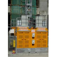 Quality Yellow Color Building Site Hoist 8 Rack Module With Frequency Control Motors wholesale