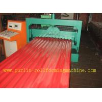 Quality CE Corrugated Roof Panel Roll Forming Machine PANASONIC Transducer For Chain Drive wholesale