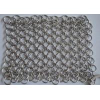 Quality High Precision Wire Mesh Scrubber / Cast Iron Chain Cleaner Polishing Surface wholesale