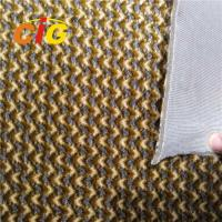 Quality Jacquard Embossed Auto fabric with 4MM foam for Iraq Dubai Saudi Arabia wholesale