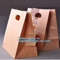 Quality 60gsm Oil-Proof Food Kraft Paper Packaging Bread Bag,food brown kraft paper bag sandwich bag bread bag, BAGPLASTICS, PAC wholesale