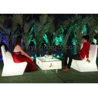Waterproof IP56 Outdoor 16 Colors LED Lighted Sofa , Garden Outdoor Led Lighted Sofa
