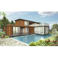 China Nice Design Prefab Modular Homes Galvanized Steel Structure 2 Floors Dwelling on sale