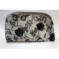 Quality Black rose travel cosmetic bag toiletry organizer with zipper wholesale