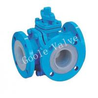 Quality PFA Lined three way ball valve wholesale