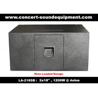 """Cheap Line Array Sound System / 2x18"""" Horn Loaded 4ohm 1200W Subwoofer For Concert And Living Event for sale"""