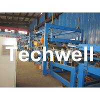 Quality 32KW, 50 - 250mm Rock Wool Insulated Sandwich Panel Line Machine For Prefabricated House wholesale