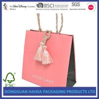 Quality Luxury Boutique Kraft Paper Shopping Bags Recyclable With Ribbon Handles wholesale