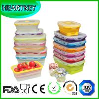 Buy cheap 4 Pack (350ML , 540ML , 800ML , 1200ML) Food Storage Containers Silicone Collapsible Lunch product
