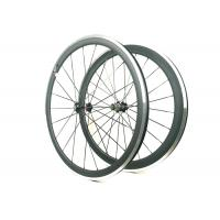Quality 271 372 Hub Carbon Alloy Wheels Clincher Matte / Glossy Finishing With Alloy Brake wholesale