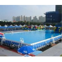 Quality Outdoor PVC Above Ground Steel Frame Swimming Pool for summer playing wholesale