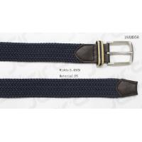 Buy cheap Male Navy Stretch Belts With Brown PU Tip , With Woven Tape Loop from wholesalers