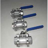 Quality A182 F316/A351 CF8M/SS316  Screwed FNPT CL800 reduced port 3 pieces ball valve wholesale