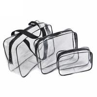3 PCS Custom Cosmetic Bags / Portable Waterproof Beauty PVC Clear Makeup Bags