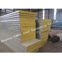 Quality Fast Construction Easy Installation Rock Wool Sandwich Panels Water Proof Wall Systems wholesale