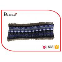 Quality Faux Fur Lining Crochet Snood Scarf For Kids , Navy Knit Cowl Scarf wholesale