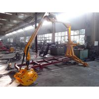 Quality China quality tractor tow forest log trailers with crane / trailer mounted log grapples for sale wholesale