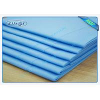 Quality Clinic / Hotel Hygiene Blue Disposable Bed sheet Easy Carry Paper Bedsheet wholesale