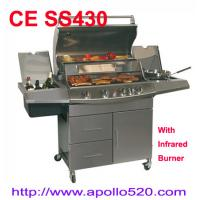Cheap Four Burner Barbecue Set with infrared burner for sale
