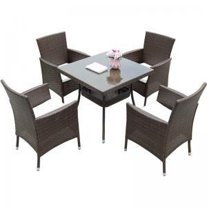 Quality H680mm W540mm Table Rattan Garden Dining Set Retro Designs wholesale