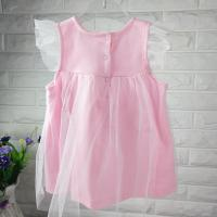 Quality new fashion  baby girl summer dress pink princess dress kids dress for girls dress fastion baby girl clothes dress set wholesale