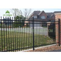 Quality 1.2m Height Flat Top Steel Pool Fencing For Pool Security Protection wholesale