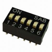 Quality SMD Box Slide DIP Switches with High Temperature Resistance, Black wholesale