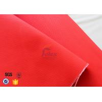 Quality Anti Acid 480gsm 0.45mm Fiberglass Fire Blanket Red With Acrylic Coated wholesale