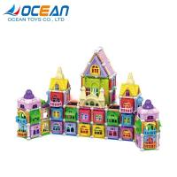 China Educational 3D DIY kids set building magnetic toy block with light on sale