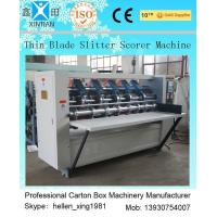 Quality Vertical Cutting Paper Printing Slotting Machine For Pressing / Folding Marker wholesale