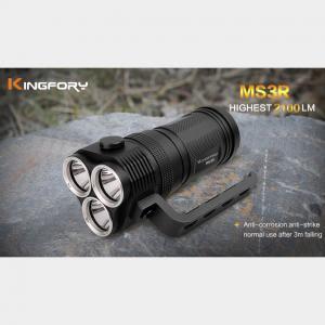 China MS3R Three heads Super Bright Hand-held Led Flashlight Torch on sale