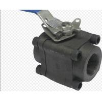 Quality API6D 3 Piece Full Bore Ball Valve SW  NPT Ends Forged Steel Material wholesale